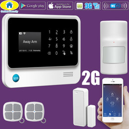 Wholesale Wireless Gsm Home Alarm Systems - G90B Plus WiFi GSM Alarm System Sensor English Spanish Russian Voice Android IOS App Smart Home 3G for Option