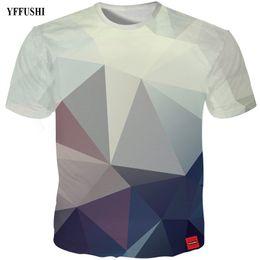 Camisa de diamante nova chegada on-line-YFFUSHI 2018 New Arrival Hot Sale Masculino / Feminino camiseta 3d Homens Moda Diamante 3d impressão t shirt Para Presente de Aniversário Plus Size