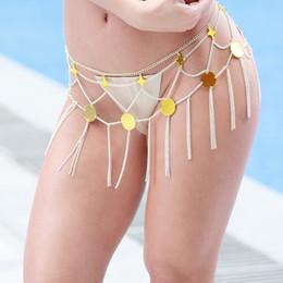 Canada Femmes Sexy Gland Étoiles De Luxe Chaîne Du Ventre Plage Accessoires Bikini Taille Chaîne Corps Bijoux Nouvelle Arrivée Offre