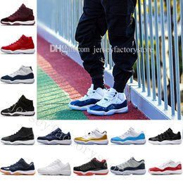 Wholesale Hot Pink Boots For Sale - New Gym Red GS Midnight Navy 'Win Like 82' 11 Basketball Shoes hot sale Men original Sneakers Boots Weaving 11S Boots Cheap online for sale