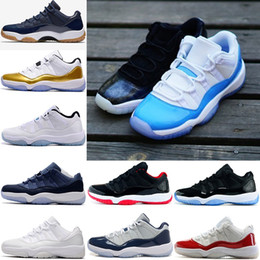 Wholesale Dj Canvas - Air 11 DJ 11 women men basketball Shoes Low Metallic Gold Closing Ceremony Navy Gum Blue white red bred concord sports sneakers
