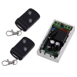 Transmisor de 315 mhz receptor online-315 MHz Inalámbrico AC220V 1CH 2 Botones Receptor Transmisor + 2 Control Remoto Módulo Controladores Controladores Transceptor RF