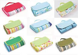 Discount waterproof baby blanket outdoor - 200*200CM 148*180CM Waterproof Collapsible Outdoor Camping Mat Wide Picnic Mat Plaid Beach Blanket Baby Multi-person Tourist Pad