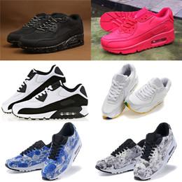 Wholesale Cotton Art Canvas - 20 color New 90 Low Running Shoes For Men Women Cheap 90 Sport Shoes Flower Art Trainers Sneakers Eur 36-45