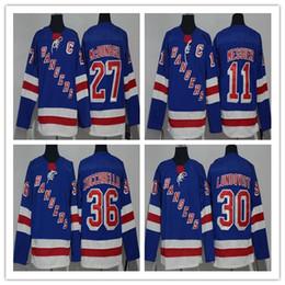 Marca maillot maillot online-Hombre Henrik Lundqvist New York Rangers 27 Ryan McDonagh 36 Mats Zuccarello 11 Mark Messier hombre mujer joven Hocekey Jerseys 100% cosido