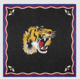 Wholesale dragon fleece - Women Silks Scarves Blooms print silk scarf Silk wool Blooms snake bee dragon tiger head feline Mystic Tiger print modal silk shawl