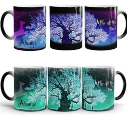 Wholesale Flying Change - Harry Magic Mugs After All This Time Always Mysterious Purple Green Life Tree Fly Deer Color Changing Cups Creative Gifts