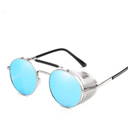 ae1d213cafe Round Designer Sunglasses men steam punk Metal women COATING SUNGLASSES Men  Retro sun glasses Good vision comfortable to wear