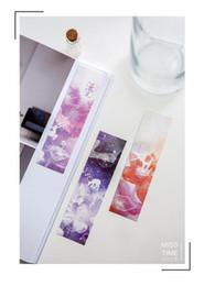 Marcadores coreanos online-Wholesale-30 pcs / lote Creative Kawaii Paper Bookmarks Lovely Dreamy Book Mark para los niños de regalo de escritorio coreano Envío Gratis 450