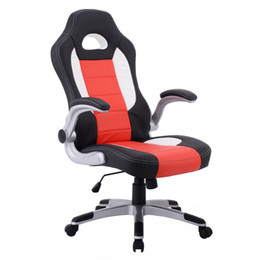 Wholesale New Style Chair - PU Leather Executive Racing Style Bucket Seat Chair Sporty Office Desk Chair New