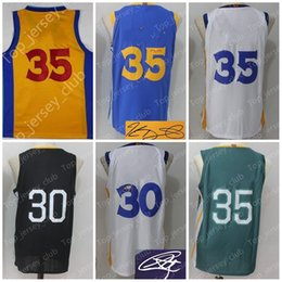 Wholesale Orange Bay - 2018 New GSW Basketball The Town City Bay Jersey Men Women Youth ,Signature Retro Kids,30 SC 35 KD USA Team Black Blue