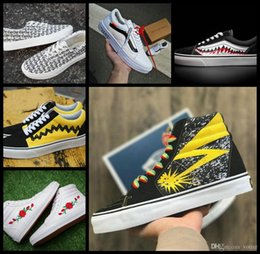 Wholesale blue brains - 2018 Fashion Vault x Bad Brains Classic Sk8-Hi LX Old Skool Casual Canvas Running Shoes For Women Men Skateboard Sneakers Flower Zapatillas