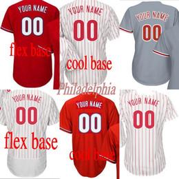 Wholesale Custom Cooling - Men's women youth Philadelphia Custom any name number 27 Aaron Nola Flexbase Cool Base white red Baseball Jersey stitched s-4xl