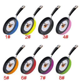 Novo relógio de parede de design on-line-2017 Nova Omelete Pan Relógio Frigideira Cozinha Egg Egg Design Relógio de Parede Home Decor Frete Grátis XL-209