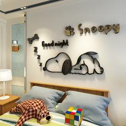 2018 Kinder Wandfarbe Wandsticker Malerei Für Einteilige Wandsticker Für  Kinderzimmer Zimmer Dekoration Cartoon Snoopy Muster Schlafzimmer