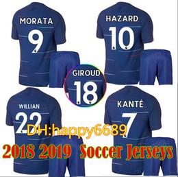 18 19 TOP Quality Adult Kits Soccer Jersey 2018 2019 MORATA Willian HAZARD  Pedro DIEGO COSTA KANTE WILLIAN DAVID LUIZ home Football Shirts 14bfd6a32