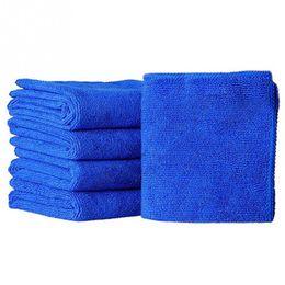 Wholesale microfibre cloths - 20pcs car Wash Towel 25cm x 25cm Microfibre Cleaning Auto Car Detailing Soft Cloths Wash Towel Duster Blue promotion low price