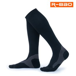 2019 tubos de piernas largas Nuevo tubo largo al aire libre calcetines negros pierna de protección maratón corriendo medias de compresión calcetines para hombres buena calidad rebajas tubos de piernas largas