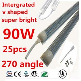 Wholesale 3ft T8 - V-Shaped 2ft 3ft 4ft 5ft 6ft 8ft Cooler Door Led Tubes T8 Integrated Led Tubes Double Sides Led Lights 85-265V Stock In US