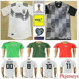 Wholesale Germany National - 2018 World Cup National Germany Football Jersey Muller Gotze Reus Kroos Draxler Neuer Ozil Hummels Boateng Custom Black White Soccer Shirt