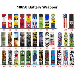 Argentina 65 diseños para 18650/20700/21700 batería Envoltorios Etiqueta engomada de PVC Cubierta retráctil Envoltura de calor Manga retráctil Recubrimiento de la envoltura de baterías Suministro