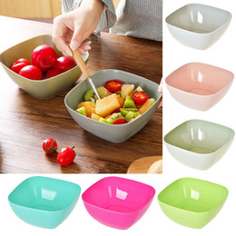 Wholesale Wholesale Square Dishes - Wholesale Food Grade Plastic Square Fruit Plate Salad Bowl Melon Fruit Plate Small Snack Candy Dish Dried Fruit Bowl Free DHL WX9-339