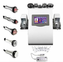 Wholesale Cavitation Rf Body Slimming Machine - HOT SALE !!! 6 In 1 Cavitation Vacuum Fat Removal Tripolar RF Skin Care 650nm Diode LLLT Lipo Laser Body Shaping Slimming Machine CE