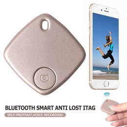 Wholesale Lost Dog Alarm - Lovely Smart Bluetooth Finder Anti lost Tag LED Alarm Pet Dog Cat Tracker Remote Selfie Support IOS Android Retailpackage