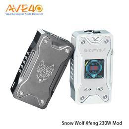 Caja sigelei online-Auténtico Sigelei SNOWWOLF Xfeng Mod 230W TC Box Mod 230Watt E-Cigarette Vape Mod 100% Original Snowwolf