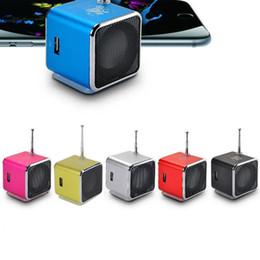 mikro-sounder bluetooth Rabatt Bluetooth-Lautsprecher TD-V26 Mini-Lautsprecher Tragbare Digital-LCD-Sound Micro SD / TF FM-Radio Musik-Stereo-Lautsprecher für Laptop-Handy MP3