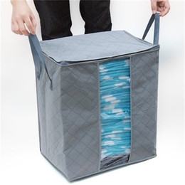 Wholesale Bamboo Plastic Bag - Non Woven Storages Bags Foldable High Capacity Bamboo Charcoal Clothing Organizer Storage Bag 3 8gn C R