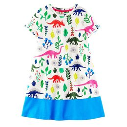 Wholesale Tutu Dresses For Toddlers - Toddler Girls Summer Dresses Unicorn Printed Fashion Kids Flowers Party Dress for Kids Girl Short Sleeve Princess Dress Baby Girl Clothing