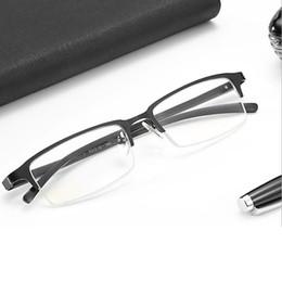computador de óculos anti-radiação Desconto Homens Bussiness Ópticos Óculos de Armação Azul Filtro de Luz Óculos de Computador Anti Radiação Óculos Espetáculo armações De Metal Quadrado