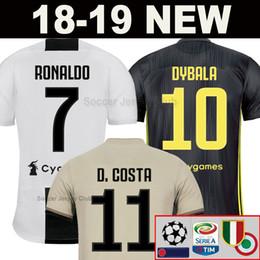 57cf7219615 sports jersey tops Promo Codes - 18 19 RONALDO JUVENTUS EA Sports Soccer  Jersey 2019 DYBALA