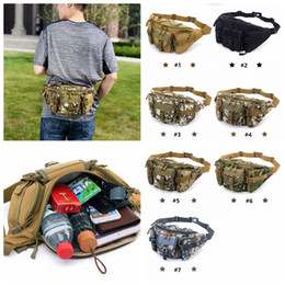 Molle camo taschen online-Mehrzweck Poly Werkzeughalter EDC Tasche Camo Tasche Nylon Utility Tactical Hüfttasche Camping Wandern Tasche mit Molle system MMA1098 50 stücke