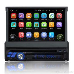 Wholesale Dvd Gps Din Android - 7'' Universal single Din android 7.1 radio Audio car DVD Player+Radio+one din GPS Navi+Autoradio+Stereo+Bluetooth+DVD Automotivo H
