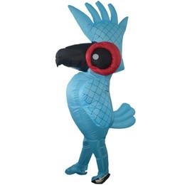 Aufblasbare Rio Blue Parrot Halloween Kostüm Cartoon Tier Maskottchen Kostüm Papagei Kleidung Erwachsene Kinder Halloween Party Kostüme von Fabrikanten
