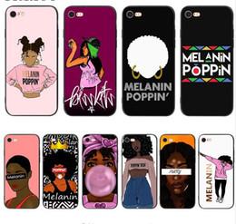 Meilleur cas d'iphone 5s en Ligne-Meilleur étui en silicone noir doux 2bunz Melanin Poppin Aba pour iPhone XS Max
