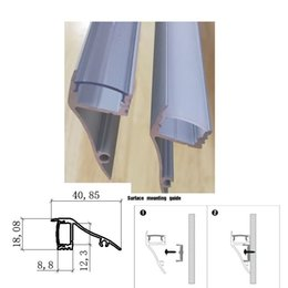 Wholesale profile ceiling - 6 10Pack x 1m Wall Mount LED Aluminum Channel Profile for Led Strip, Diffuser,Surface Mount,Ceiling Molding,Wall Wash SDW4018