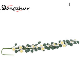 Wholesale Flower Pottery - Wholesale- Dongzhur Doll House Toys Mini Roses Flowers String Clay Handmade DIY Dollhouse Miniatures 1:12 Accessories 4 Color Flower String