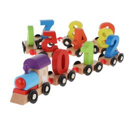 Wholesale Build Wooden Train - Wooden Train Building Block Puzzle Toy 11pcs Train Puzzle Wooden Gliding Car Toy Building Blocks Jigsaw Car Toy Educational Model to Slide