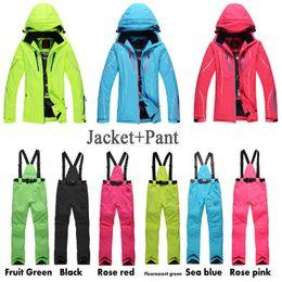 Wholesale Cheap Black Ladies Suits - Cheap Ski Suit Sets Women Outdoor Snow Suit Ladies Snowbaord Clothing 10000 Waterproof Windproof Winter Costume Jacket+Pant
