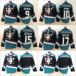 13bfcb848 15 Ryan Getzlaf Jersey Anaheim Ducks 17 Ryan Kesler 10 Corey Perry 9 Paul  Kariya Black Hockey Jerseys High Quality Free Shipping