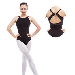 Canada Sexy dentelle épissée sans manches Halter Neck Dance Body Adulte Filles Femmes Ballet Danse Justaucorps Slim supplier sexy ballet girls Offre