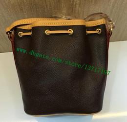 15adc1b7e9 nano bags Australia - Top Grade Brown Canvas Coated Real Leather Lady Handbag  NANO NOE M41346