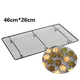 Wholesale Mould Steels - Baking Rack Cake Mould Baking Tools Bread Cake Cookie Bake Rack Non Stick Stainless Steel Cooling Rack Kitchen Tools CCA9042 50pcs