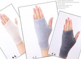 Wholesale Wholesale Wool Gloves For Women - Sales Genuine Fine Sheep Wool Mitt Exposed Finger Women's Gloves Winter Autumn Knitted for Women Fingerless Gloves Wrist Mittens