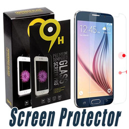 Wholesale Edge Active - Tempered Glass Clear Transparent 9H 2.5D Screen Protector Film With Paper Retail For Samsung S6 S7 Edge S4 S5 S6 S7 Active