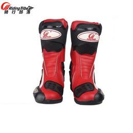 Spedizione gratuita 1pair professionale Moto Offroad Motocross MX GP Racing Sport stivali da moto in pelle scarpe da