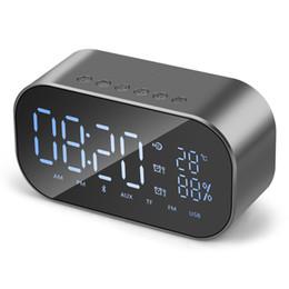2019 alarmes móveis 2018-S2 Sem Fio Bluetooth Speaker Sem Fio Mini Despertador Móvel Pequeno Áudio Do Computador Subwoofer Carro Som Estéreo desconto alarmes móveis